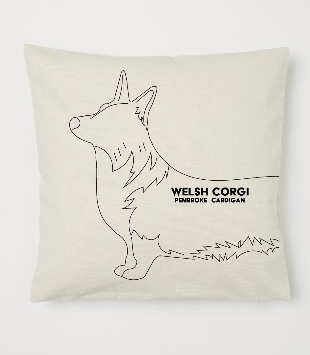 クッション 線画シリーズ カーディガンデザイン No.cushion005 40×40 オーガニックコットンを使用のクッションカバー コットン 100%