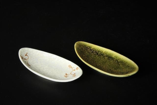 楕円珍味豆皿 三川内焼