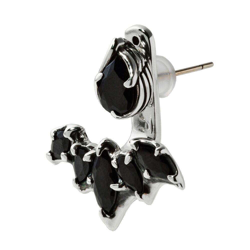 ルシファーイヤージャケットピアス(ブラック) ACE0147 Lucifer Ear Jacket Earrings (Black)