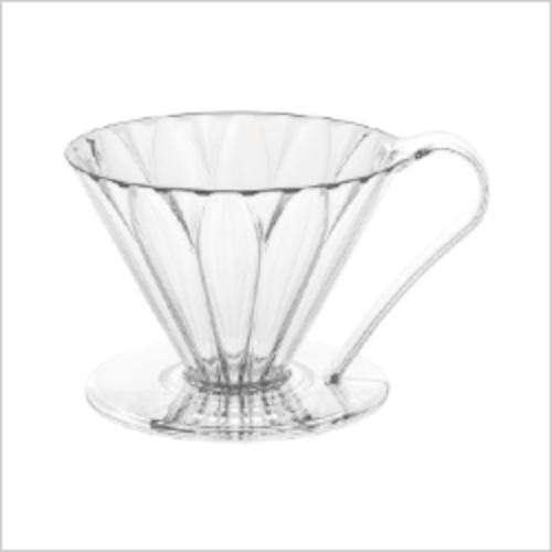 cafec 円錐ドリッパー 2~4杯用 PFD-4 CUP4 樹脂製