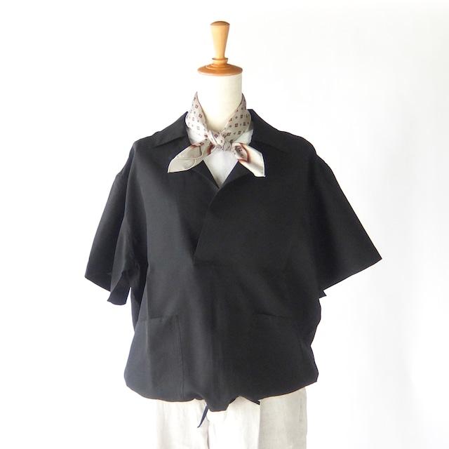 HAVERSACK - シルクポプリン ショートスリーブシャツ - Black