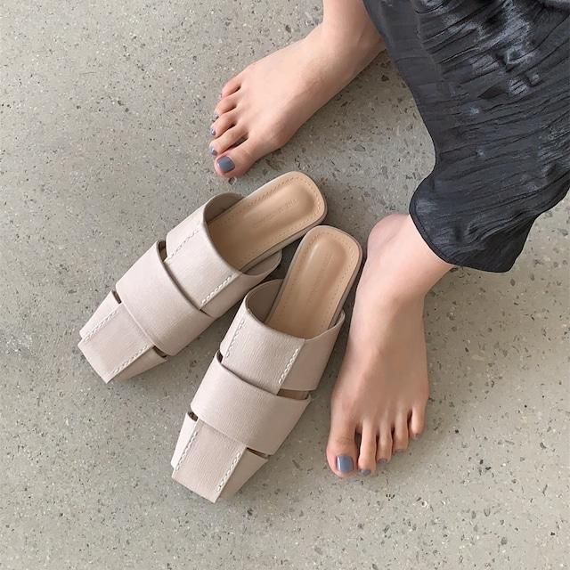 Flat pile up sandal(フラットパイルアップサンダル) b-108