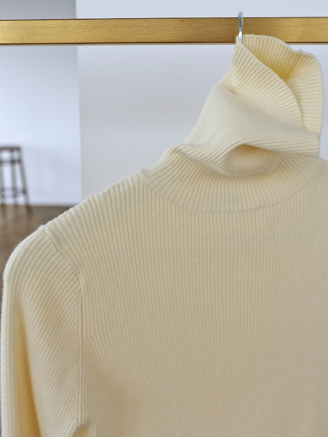 color rib turtle knit(ivory)