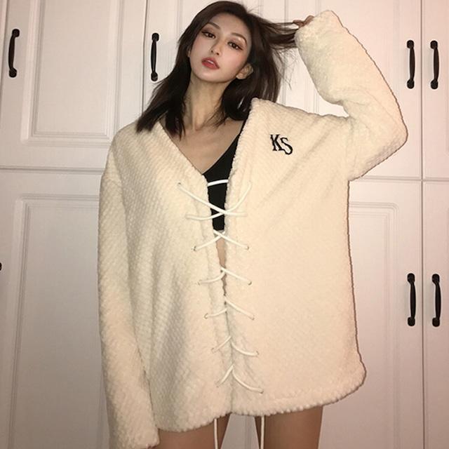 【トップス】厚く暖かいカジュアル細見せ,着痩せゆるリラックス長袖セーター42908474