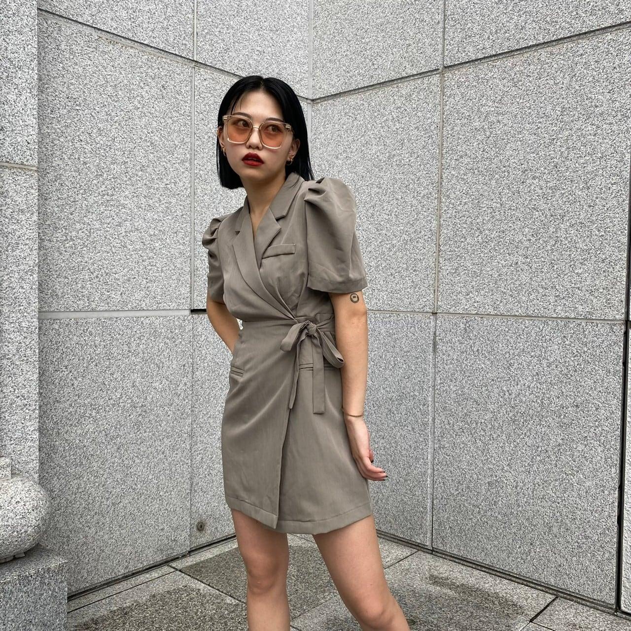 【Belle】modern mini onepiece / khaki
