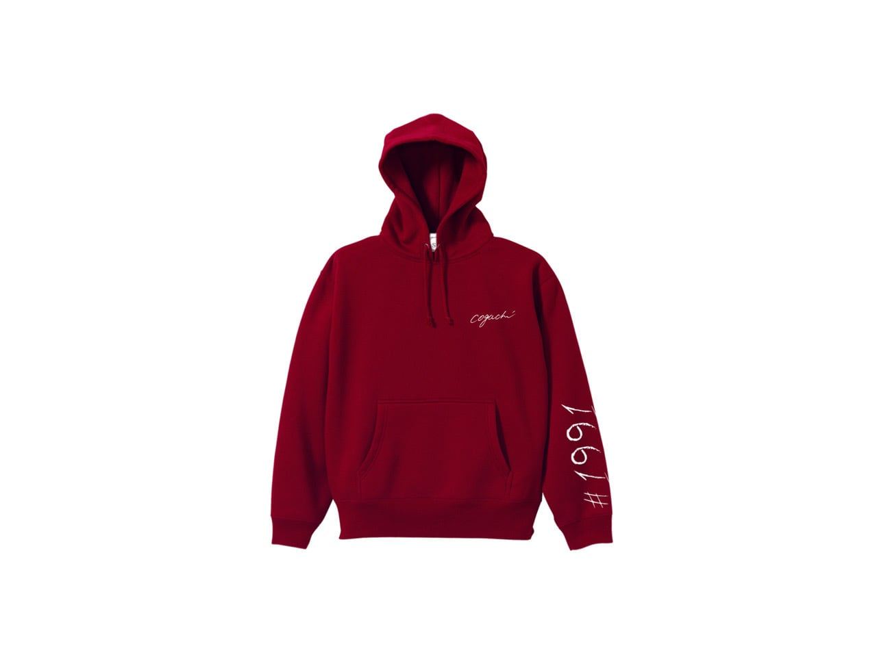 1991 pop color hoodie (BUR/WH)