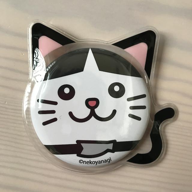 【14周年セール】猫耳カバー付きニャジロウ缶バッジ