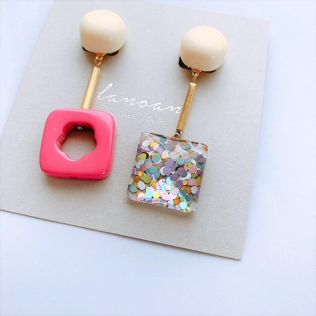 """ Earrings NO.danoan-7″ ラメとヴィンテージ"
