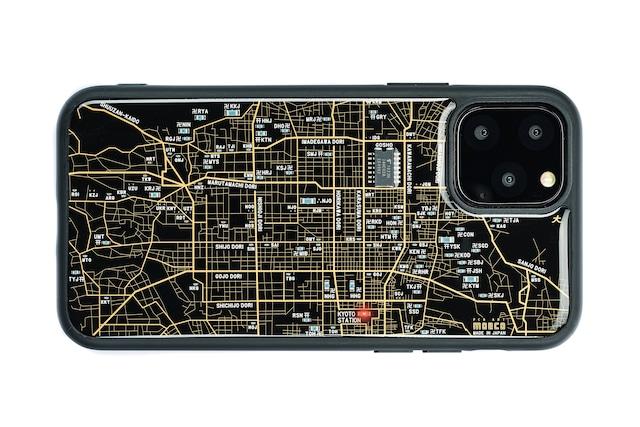 FLASH 京都回路地図 iPhone 12 / 12 Pro ケース 黒【東京回路線図A5クリアファイルをプレゼント】
