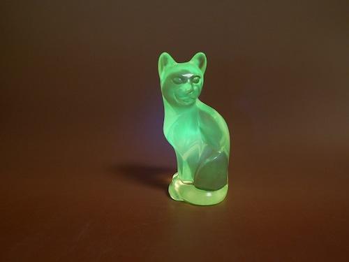 FENTON Glass フェントン ウランガラスの猫 クリア