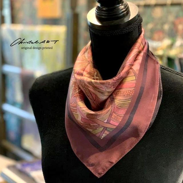 ◆新作◆小判シルクスカーフ「ジャングルの中のチーター」50cm角