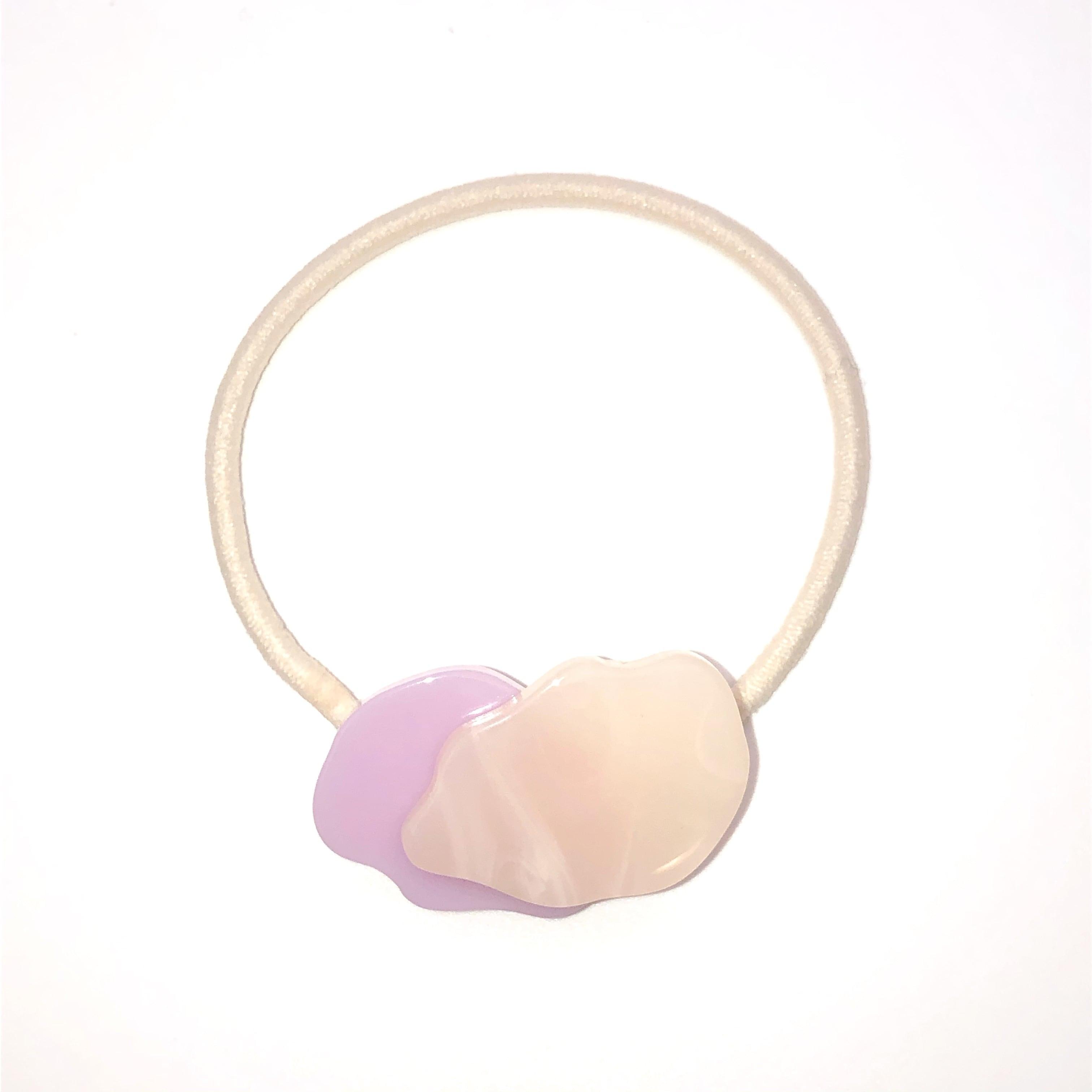 sAn  Pilue hair tie (lavender×beige)
