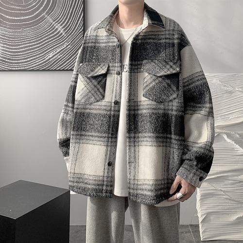 チェックウールシャツジャケット BL9655