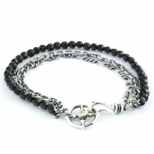ブラックスピネル3連ブレスレット ACB0102 Black spinel triple bracelet 【「貴族誕生 -PRINCE OF LEGEND-」衣装協力商品】