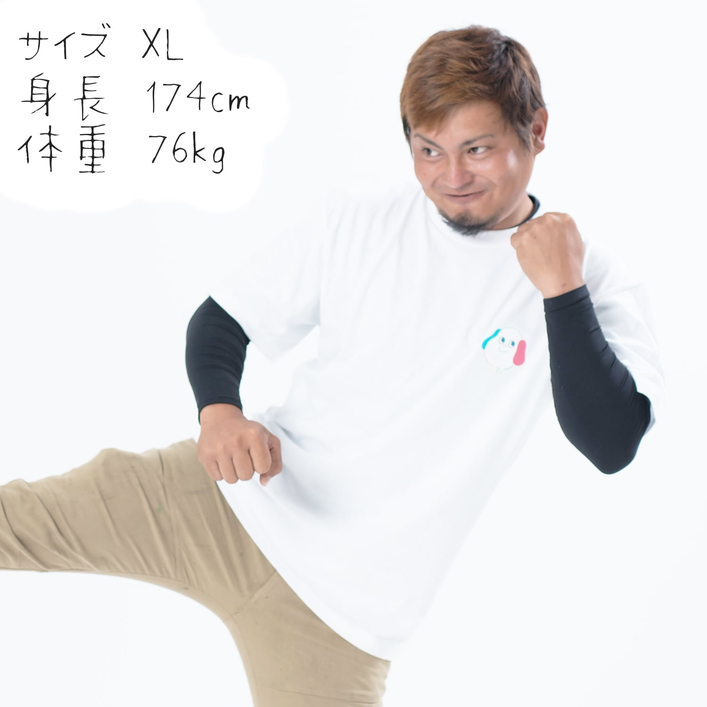 ワンポイントチャッピーTシャツ〔ホワイト〕