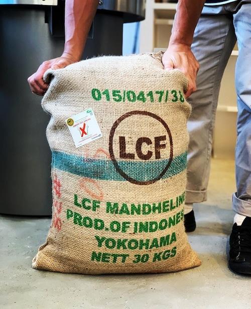 【NEW!!】インドネシア スマトラ LCFマンデリン 深煎り 100g