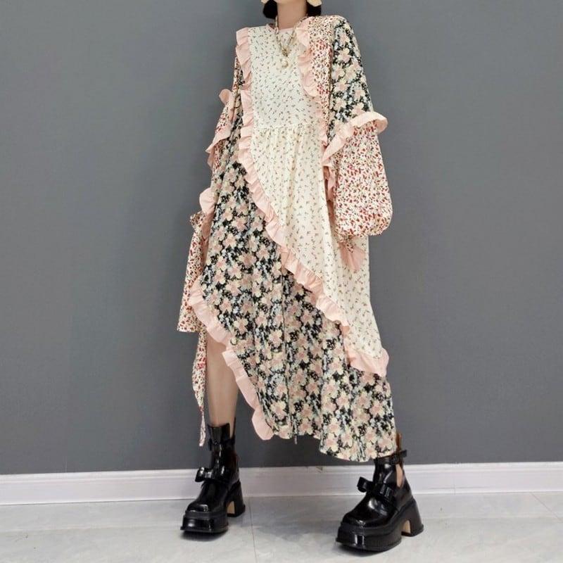 カラーマッチングドレス   1-469