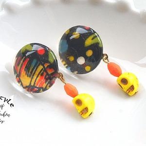 """ Earrings NO.3-82″ リバティとイエロー"