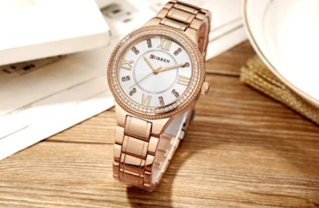 CURREN LT-C9004(rose-white) レディース腕時計