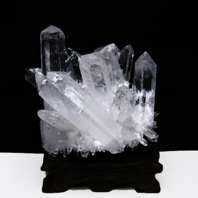 水晶 クラスター 水晶 原石 台座付属 182-3765