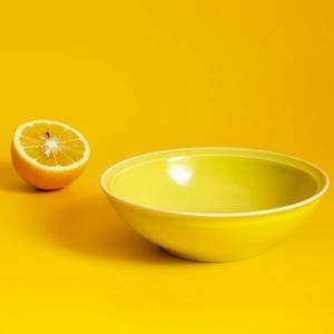 aito製作所 「シエル Ciel」きほんのうつわ 取り皿 とんすい 直径約14×深さ4.2cm イエロー 美濃焼 520112