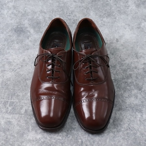 """ FLORSHEIM "" フローシャイム 革靴 ストレートチップ 8 D ブラウン 古着 A21"