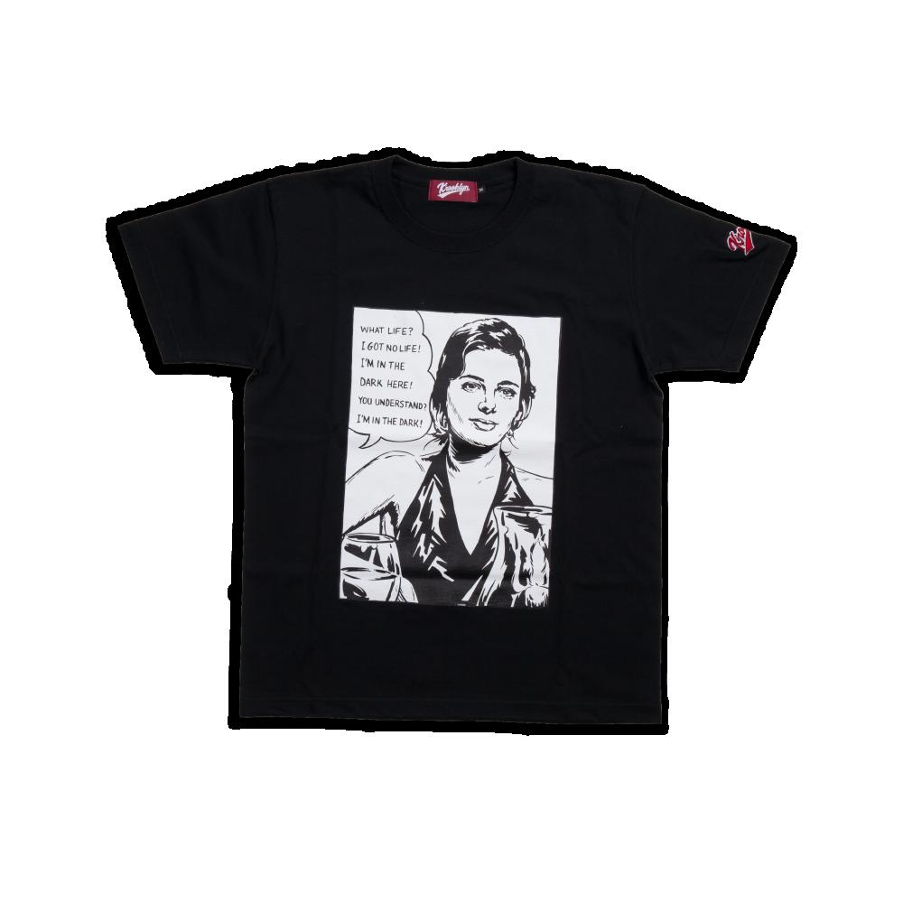 K'rooklyn T-Shirt × 上岡 拓也 Scent of a Woman Model - Black