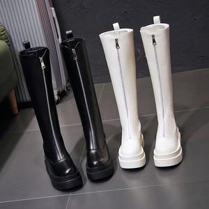 【シューズ】ファッション無地厚底スウィートブーツ42911231
