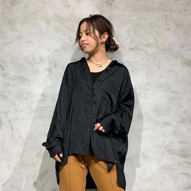 Johnbull/ジョンブル オーバーサテンドットシャツ AS052