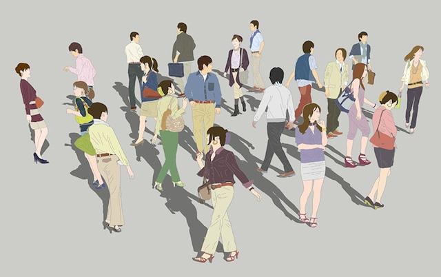 人物イラストSketchUp素材 4up_color01_20_3 - メイン画像
