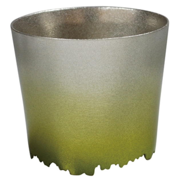 SHIKICOLORS BRIGHTGREEN ROCK CUP(錫の酒器)