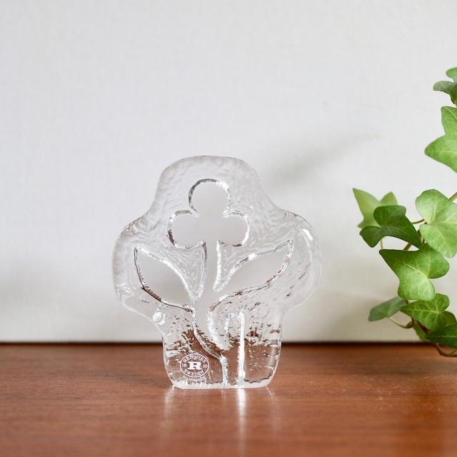 [SOLD OUT] Reijmyre スウェーデン / ガラス フラワー オブジェ ペーパーウェイト