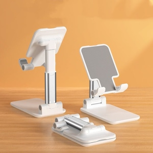【小物】折りたたみ式角度高さ調整可能スマートフォンスタンド46422045