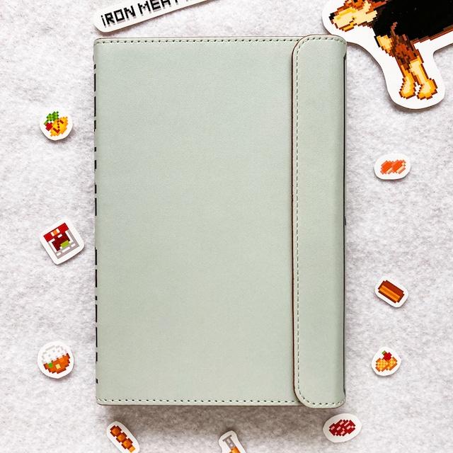 システム手帳ミニ6穴(ポケット)サイズ  IRON MEAT IRON ロゴ柄 グレー