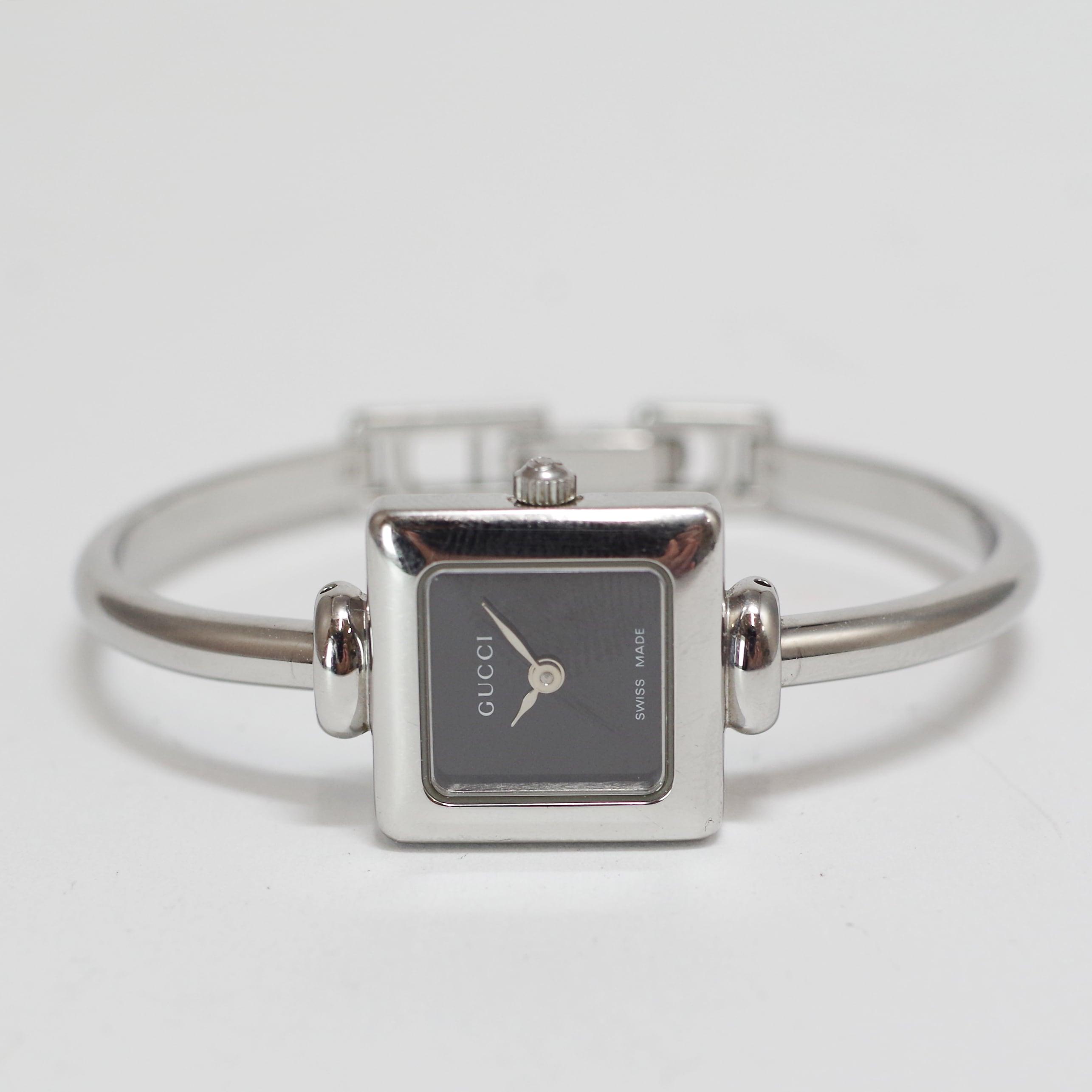 GUCCI グッチ 1900L クオーツ ブラック ステンレススチール レディース 腕時計