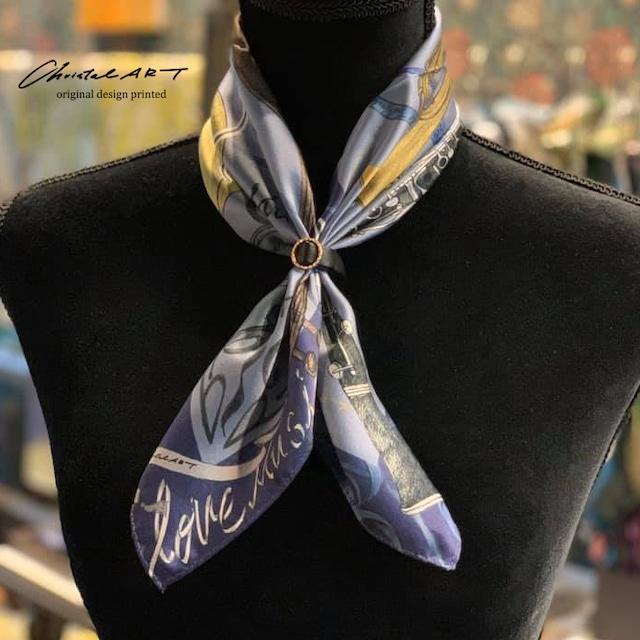◆新作◆小判シルクスカーフ「アンサンブル」50cm角