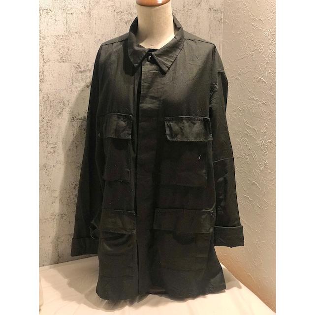 Black military over shirt