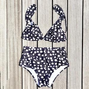 Bikini♡モノトーンフリルハイウエストビキニ GSB18S118BLK