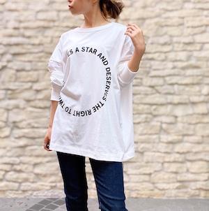 siro(シロ) circle 2way wide t-shirt  2021秋物新作