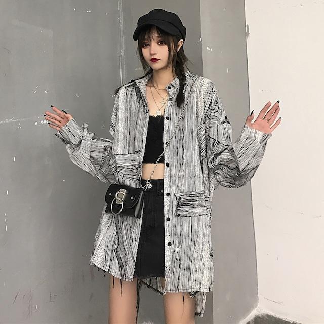 【トップス】ストリート韓国系ファッションシャツ27425887