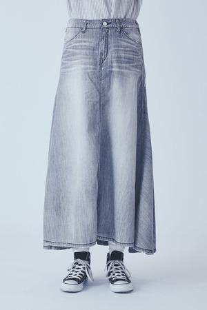WISTERIA(FADE GRAY)フレアスカート