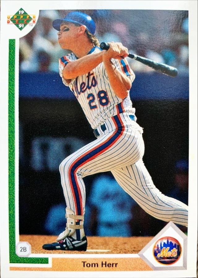 MLBカード 91UPPERDECK Tom Herr #416 METS