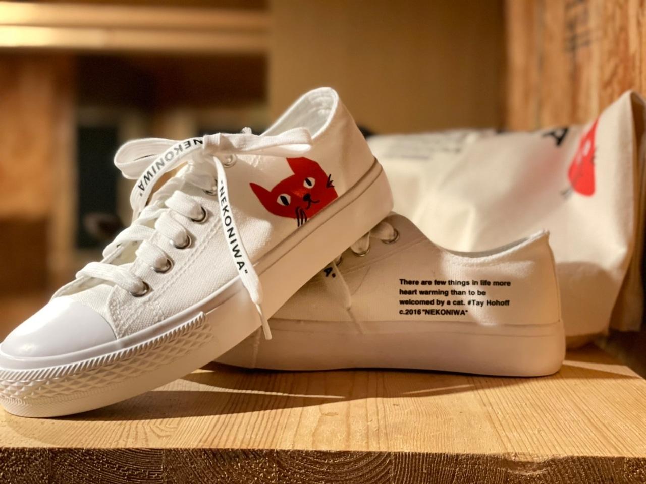 猫庭スニーカー2021 ナチュラルホワイト【レディース】