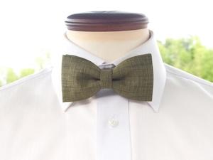 TATAN 和調変り織り蝶ネクタイ(緑色)
