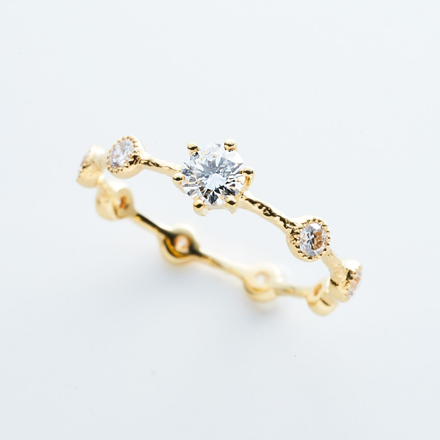H&C Diamond with Eight Diamonds Ring / K18YG