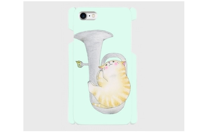 (iPhone用)ユーフォニアム猫のスマホケース
