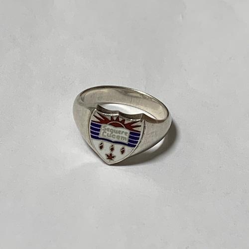 Vintage Enamel Sterling School Ring (British Columbia)