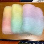 OGY23) 虹色バッツセット 手紡ぎ毛糸用ブレンド羊毛