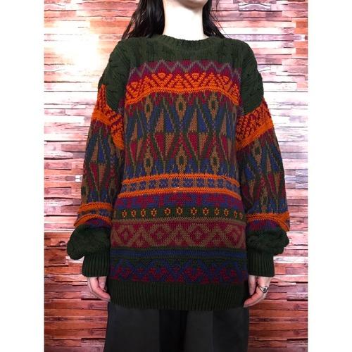 90's CHAPS Ralph Lauren コットンニットセーター