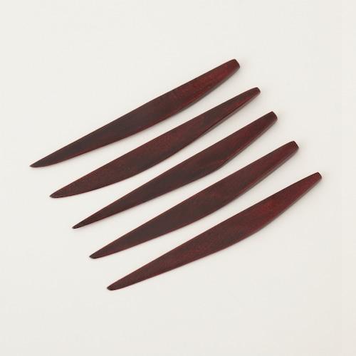 香川漆器 後藤塗菓子切 5本セット 中田漆木